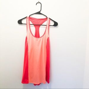 Champion duo dry racerback orange running tank